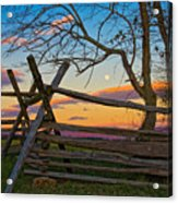 Sunset In Antietam Acrylic Print