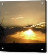 Sunset In Apple Valley, Ca Acrylic Print