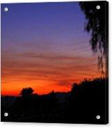 Sunset In Arizona Acrylic Print