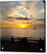 Sunset In Barbados Acrylic Print