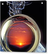 Sunset In Bell Of Sax Acrylic Print