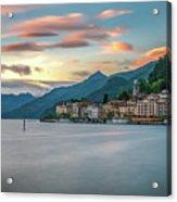 Sunset In Bellagio On Lake Como Acrylic Print