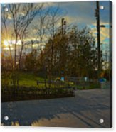 Sunset In Brooklyn  Acrylic Print