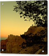 Sunset In Bryce Canyon Acrylic Print