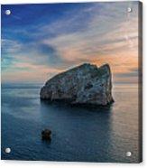 Sunset In Capo Caccia Acrylic Print