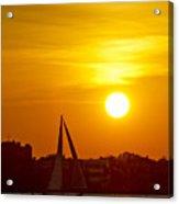 Sunset In Charleston South Carolina Sailboat Acrylic Print