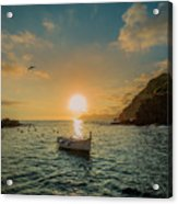 Sunset in Cinque Terre Acrylic Print