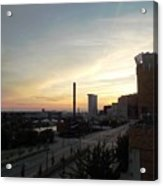 Sunset In Cleveland Acrylic Print