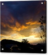 sunset in Cody wy Acrylic Print