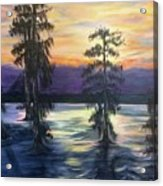 Sunset In Cypress Grove Acrylic Print