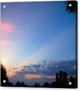 Sunset In Early Evening Acrylic Print