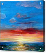 Sunset In Florida Key West. Acrylic Print