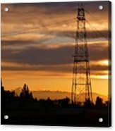 Sunset In Fremont Acrylic Print