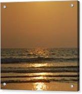 Sunset In Goa Acrylic Print