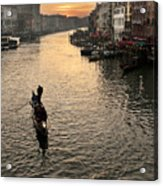 Sunset In Grand Canal Acrylic Print