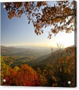 Sunset In Great Smoky Mountains Acrylic Print