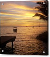 Sunset In Huahine Acrylic Print