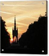 Sunset In Hyde Park Acrylic Print