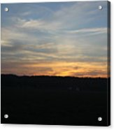 Sunset In Indiana Acrylic Print