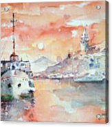 Sunset In Istanbul... Acrylic Print