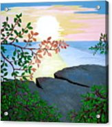 Sunset In Jamaica Acrylic Print