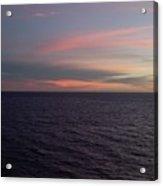 Sunset In Long Beach California  Acrylic Print