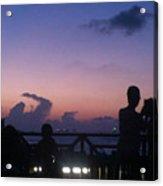 Sunset In Maldives Acrylic Print