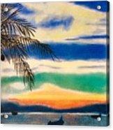 Sunset In Manuel Antonio  Acrylic Print