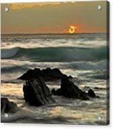 Sunset In Masua Beach Acrylic Print