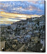Sunset In Matera.italy Acrylic Print
