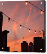 Sunset In Nashville Acrylic Print