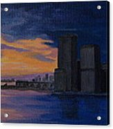 Sunset In New York City Acrylic Print