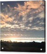 Sunset In November  Acrylic Print