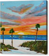 Sunset In Paradise Acrylic Print by Lloyd Dobson