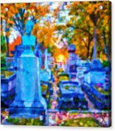 Sunset In Pere Lachaise Abstraction Acrylic Print