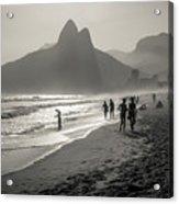 Sunset In Rio De Janeiro Acrylic Print