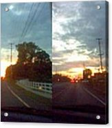 Sunset In Sequence Acrylic Print