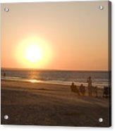 Sunset In Summertime On Beaches Acrylic Print