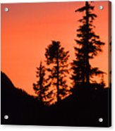 Sunset In The Mountains 2 Acrylic Print