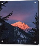 Sunset In The Mountains Acrylic Print