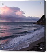 Sunset In The Ocean Acrylic Print