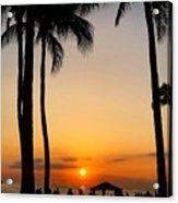Sunset In The Sandwich Isles  Acrylic Print