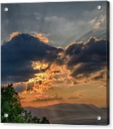 Sunset In The Shenandoah Valley Acrylic Print