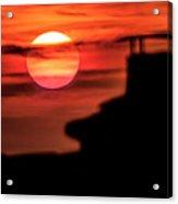 Sunset In Udine Acrylic Print