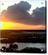 Sunset In Viera Florida Acrylic Print