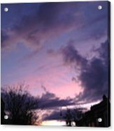 Sunset In Winter Skies  Acrylic Print