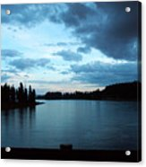 Sunset In Wyoming Acrylic Print