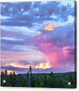 Sunset In Yellowstone Acrylic Print