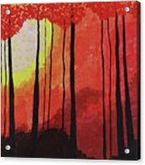 Sunset Into The Forest Acrylic Print