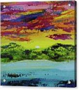 Sunset Island Acrylic Print